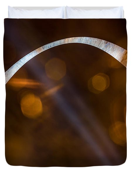The Silver Gateway Arch Duvet Cover