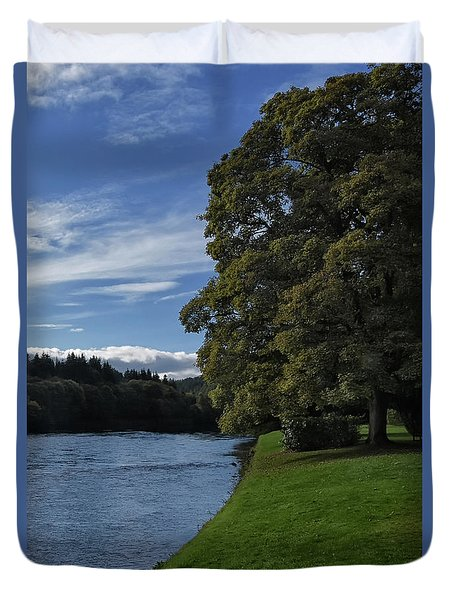 The Silvery Tay By Dunkeld Duvet Cover