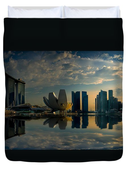 The Singapore Skyline Duvet Cover