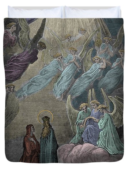 The Singing Of The Blessed In The Sixth Heaven Duvet Cover