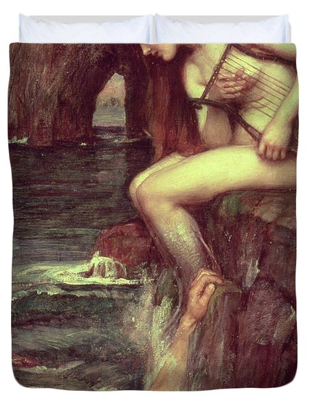 The Siren Duvet Cover by John William Waterhouse