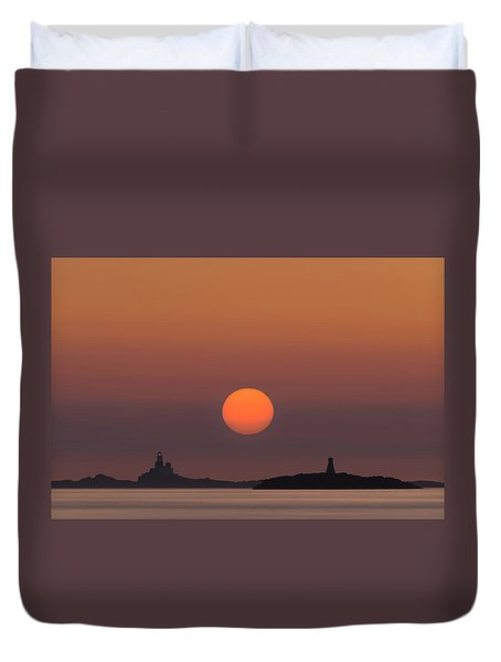 The Skerries Lighthouse  Duvet Cover