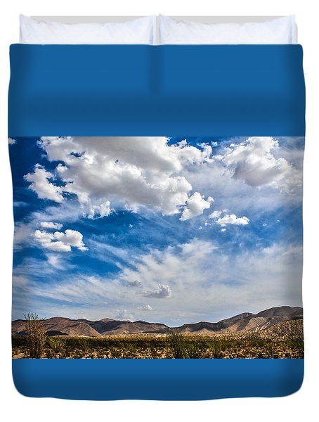 Duvet Cover featuring the photograph The Sky by Break The Silhouette