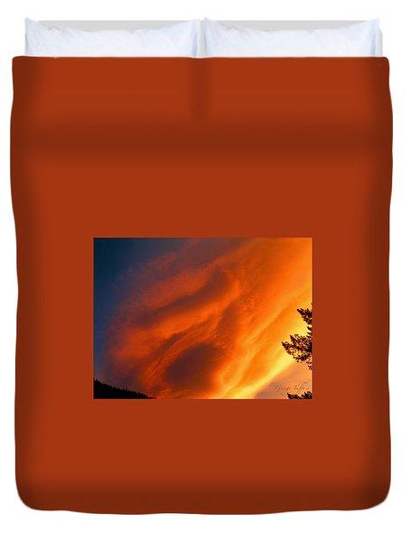 The Sky Is Burning Duvet Cover