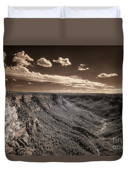 The Sky Tilts Down To The Canyon Duvet Cover