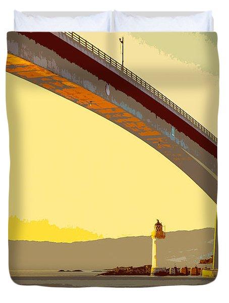 The Skye Bridge And Kyleakin Lighthouse  Duvet Cover