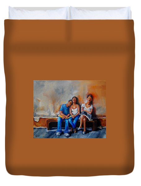 The Sleeping Tourists Duvet Cover