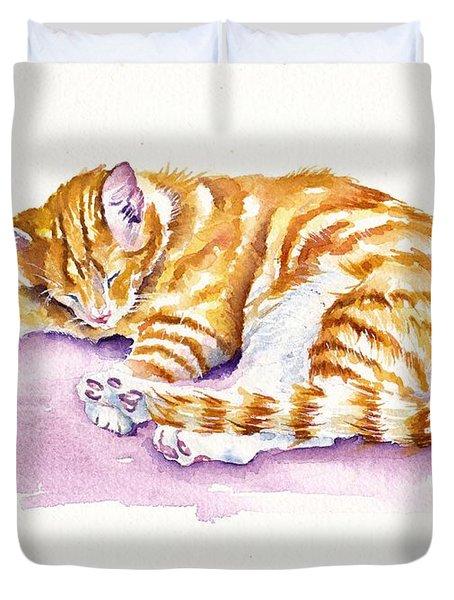 The Sleepy Kitten Duvet Cover