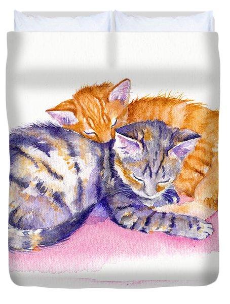 The Sleepy Kittens Duvet Cover