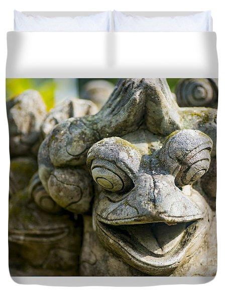 the Smiling Frog Duvet Cover