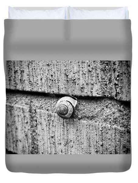 Duvet Cover featuring the photograph The Snail by Karen Stahlros