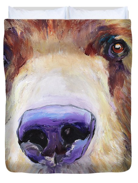 The Sniffer Duvet Cover by Pat Saunders-White
