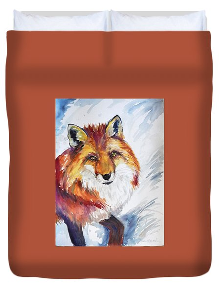 The Snow Fox Duvet Cover