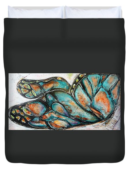 The Social Butterfly Duvet Cover