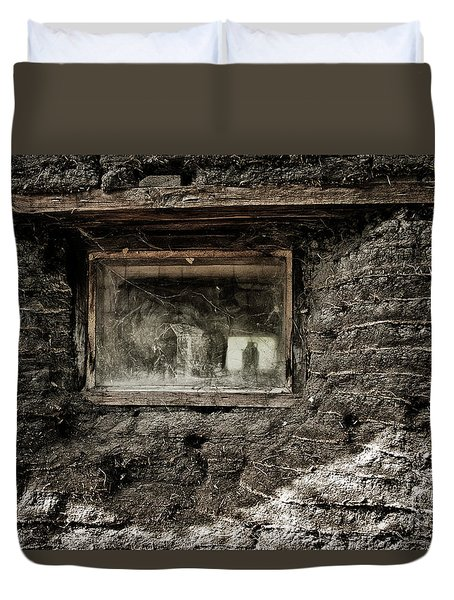 Duvet Cover featuring the photograph The Sod House by Brad Allen Fine Art