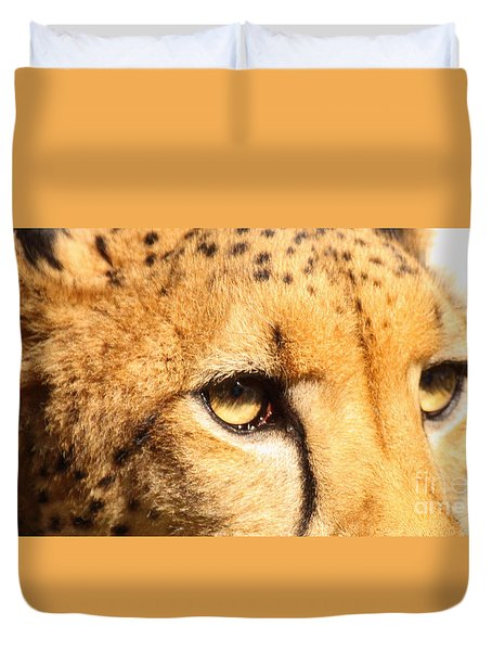 The Soft Eyes Of A Cheetah Duvet Cover
