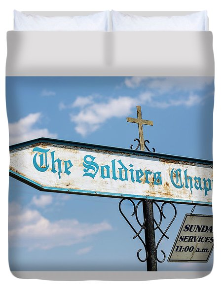 The Soldiers Chapel Sign Duvet Cover