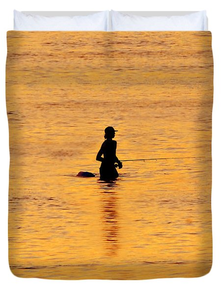 The Son Of A Fisherman Duvet Cover by David Lee Thompson