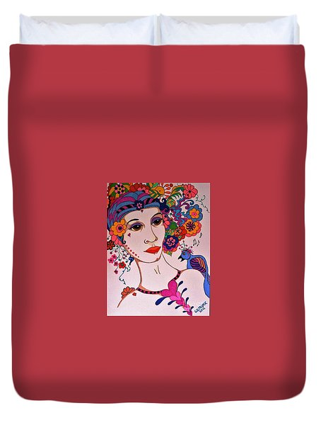 The Songbird Duvet Cover by Alison Caltrider
