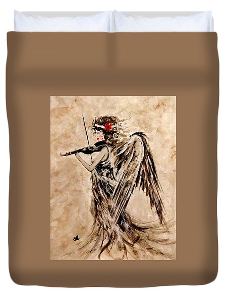 The Sound Of An Angel. Duvet Cover by Cristina Mihailescu