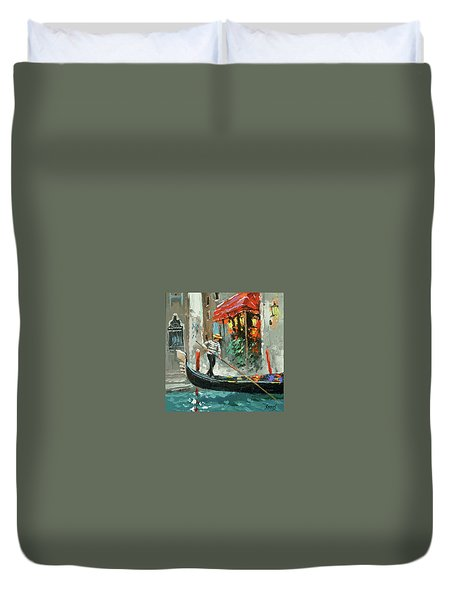 The Sounds Of A Barcarolle Duvet Cover