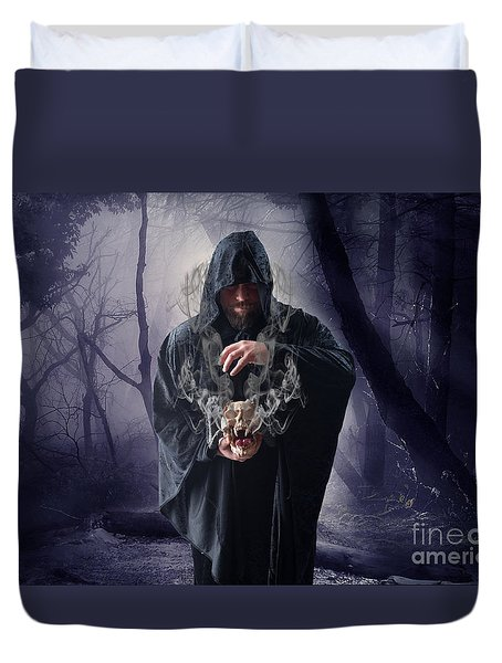 The Sounds Of Silence Duvet Cover by Nichola Denny