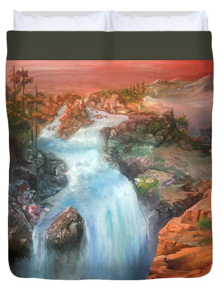 The Source Duvet Cover by Sherry Shipley