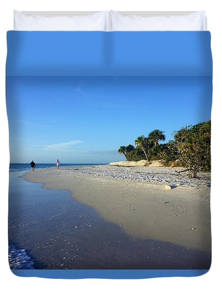 The South End Of Barefoot Beach In Naples, Fl Duvet Cover