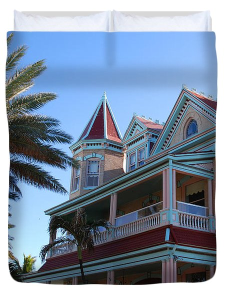 The Southernmost House In Key West Duvet Cover by Susanne Van Hulst