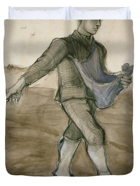 The Sower, 1881 Duvet Cover