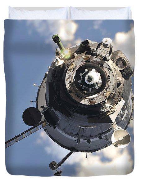 The Soyuz Tma-20 Spacecraft Duvet Cover by Stocktrek Images