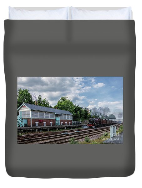 The Spa Express Departing Scarborough Duvet Cover