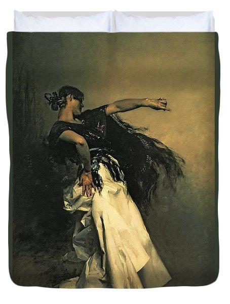 The Spanish Dancer Duvet Cover by John Singer Sargent