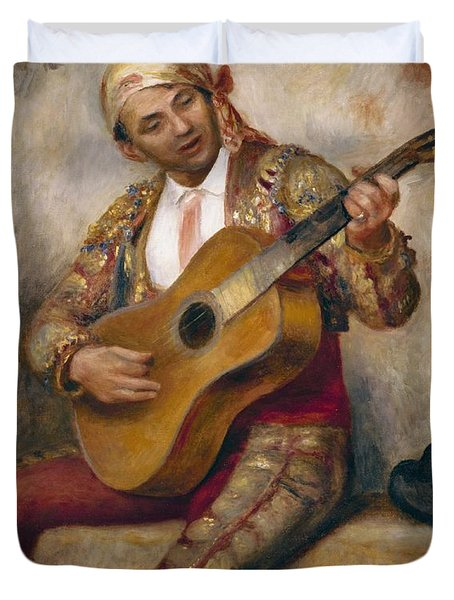 The Spanish Guitarist Duvet Cover
