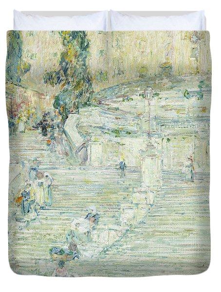 Childe Hassam. $129 · The Spanish Stairs, Rome, 1897 Duvet Cover
