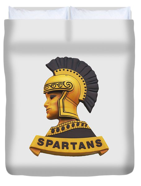 Duvet Cover featuring the photograph The Spartans by Mark Dodd