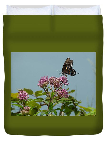 The Spicebush Swallowtail Of Prettyboy Reservoir Duvet Cover by Donald C Morgan
