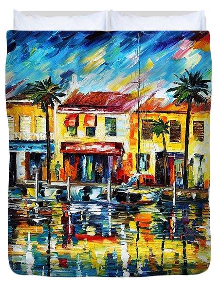 The Spirit Of Miami  Duvet Cover by Leonid Afremov