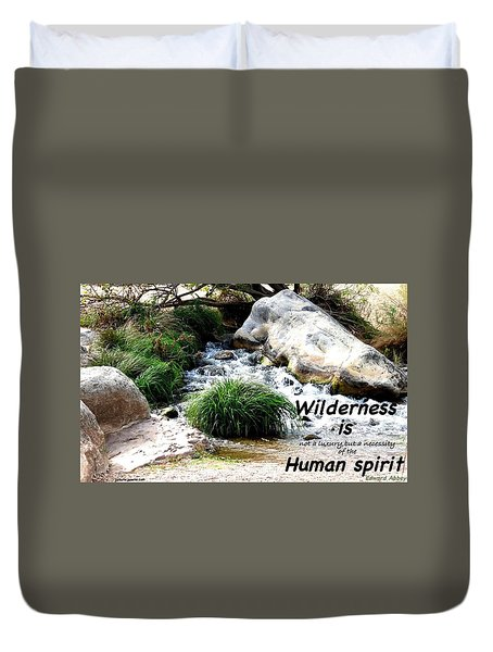 The Spirit Of Water Duvet Cover by David Norman