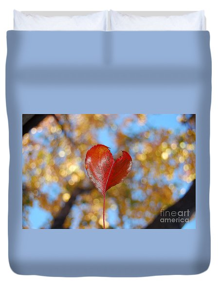 Duvet Cover featuring the photograph The Splendor Of Fall by Debra Thompson