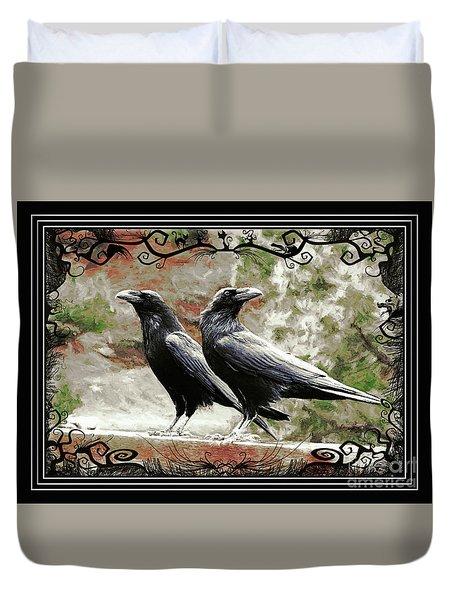 The Spooky Ravens Duvet Cover