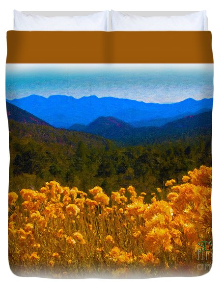 The Spring Mountains Duvet Cover