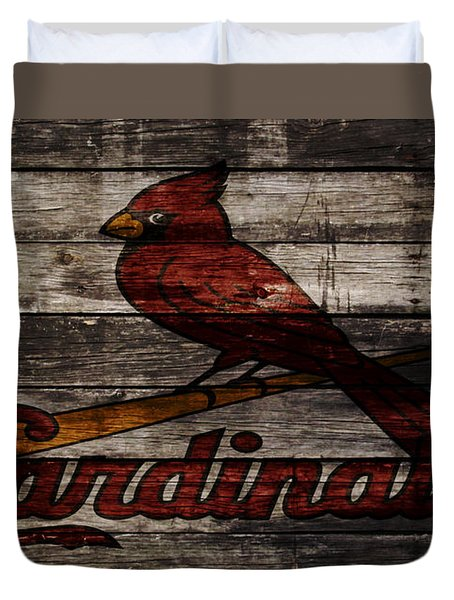 The St Louis Cardinals W1 Duvet Cover by Brian Reaves