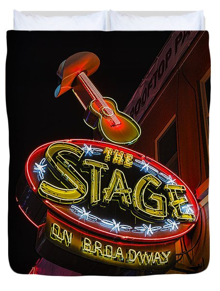 The Stage On Broadway Duvet Cover by Stephen Stookey