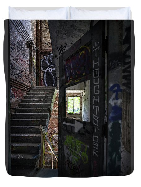 The Stairs Beyond The Door Duvet Cover
