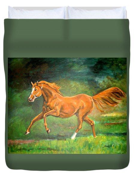 The Stallion-horse Art Painting  Duvet Cover