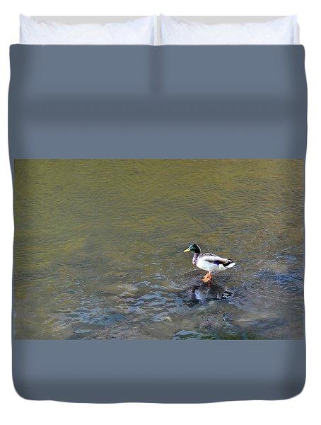 The Standing Duck Duvet Cover