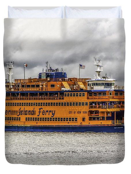 The Staten Island Ferry Duvet Cover