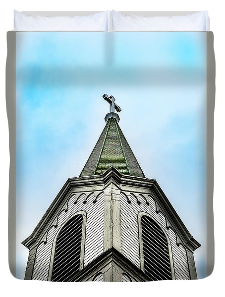 Duvet Cover featuring the photograph The Steeple by Onyonet  Photo Studios