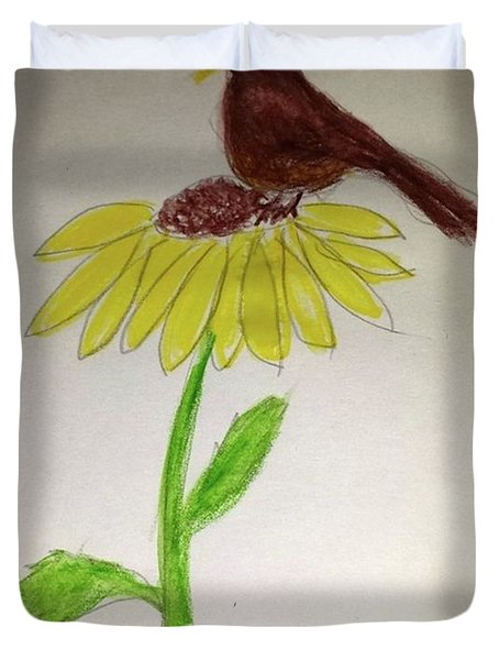 Duvet Cover featuring the painting The Stillness Of Autumn by Margaret Welsh Willowsilk